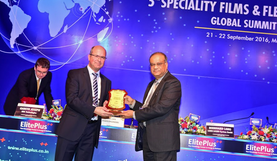 Vortrag beim 5th Speciality Films & Flexible Packaging, Global Summit, 2016 in Mumbai